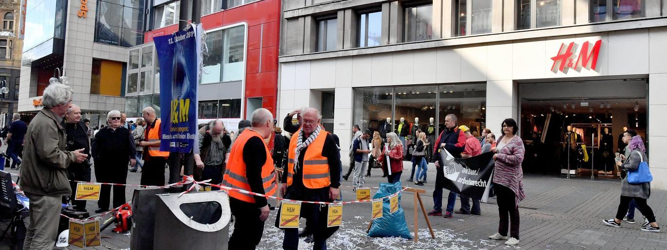 Action against job unjustness in Cologne