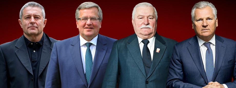 Frasyniuk, Wałęsa, Kwaśniewski, Komorowski