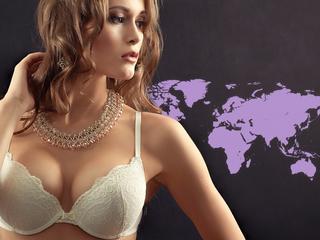 Światowa mapa biustów