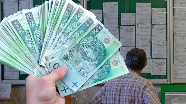 Praca pieniądze podwyżki bezrobocie banknot