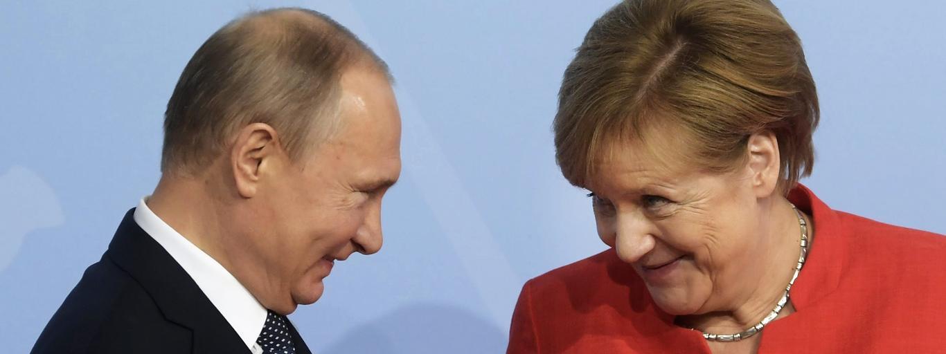 Angela Merkel Władimir Putin