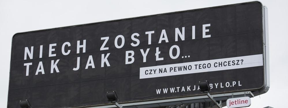 billboard kampania sądy sądownictwo