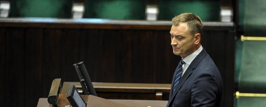 Poseł PO Sławomir Nitras podczas posiedzenia Sejmu