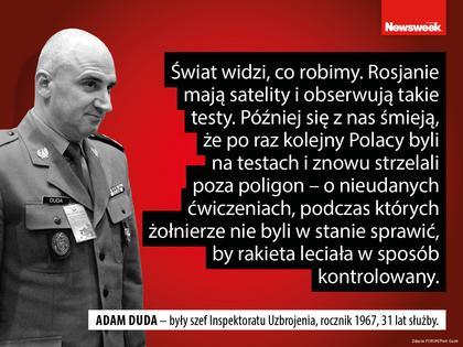 Adam Duda wojsko armia żołnierze MON Antoni Macierewicz