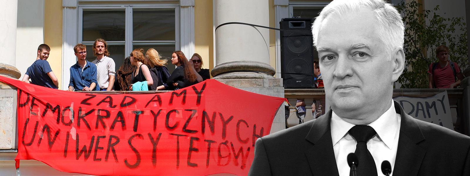 Gowin strajk studentów