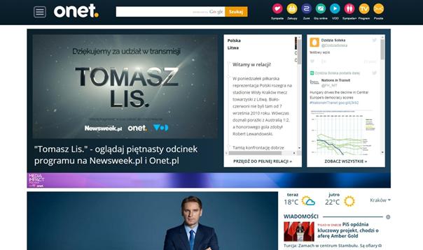 Onet.pl \- Halfpage na stronie głównej