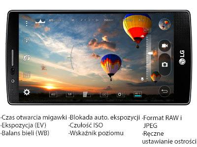 LG G4 tryb manualny