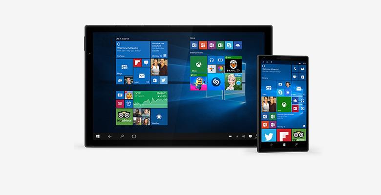 Continuum Najlepszym ekranem jest zawsze ten, na którym się znajdujesz, ponieważ system Windows 10 optymalizuje doświadczenie zależnie od działań i urządzenia. Funkcje ekranowe przystosowują się do łatwego nawigowania, a aplikacje skalują się płynnie od najmniejszych do największych wyświetlaczy.