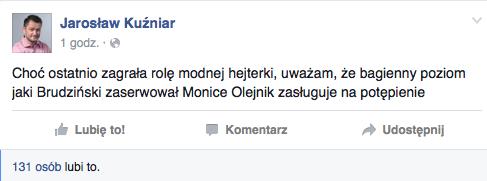 """Komentarz Jarosława Kuźniara do ostatniej """"Kropki nad i"""""""