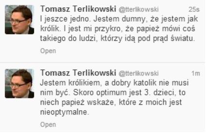 Wypowiedź Tomasza Terlikowskiego po słowach papieża