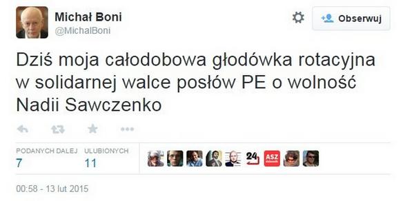 Michał Boni o swoim proteście