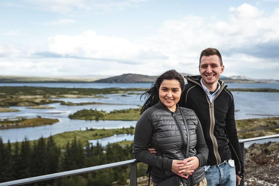 Diana i Damian w Parku Narodowym Þingvellir, fot. Mirosław Tran