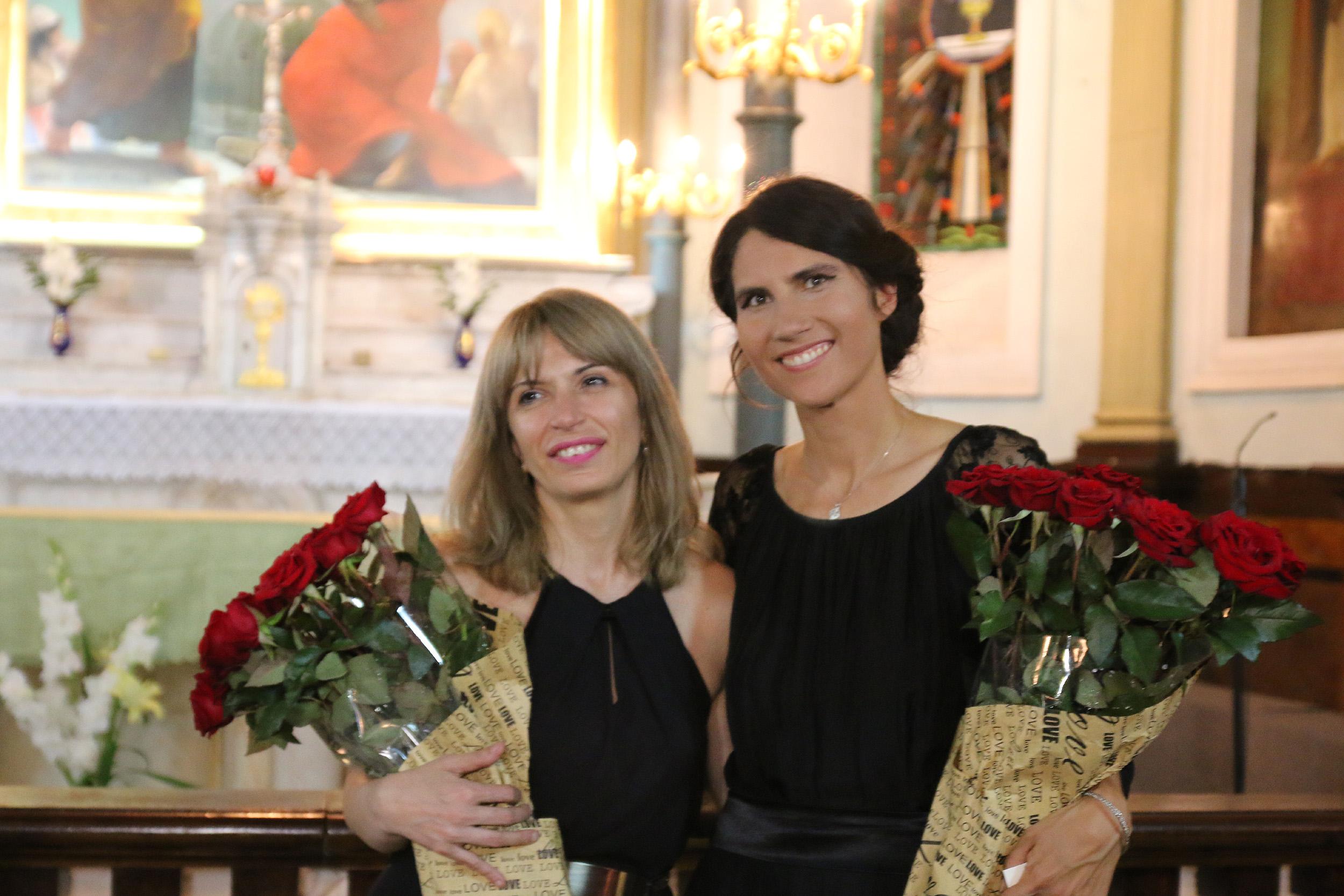 Po koncercie z Lelą Mtchedlidze, koncertmistrzem orkiestry tbiliskiej opery