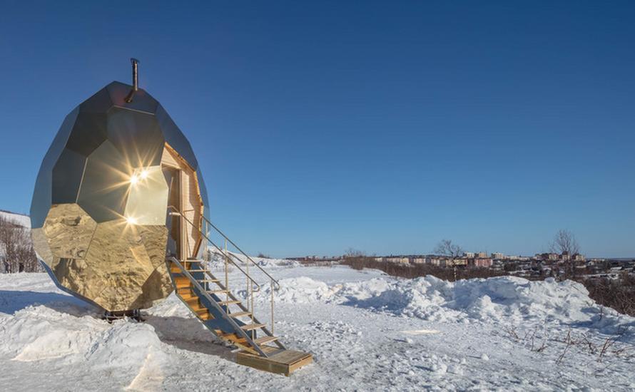 W szwedzkiej Kirunie zbudowano niesamowitą saunę