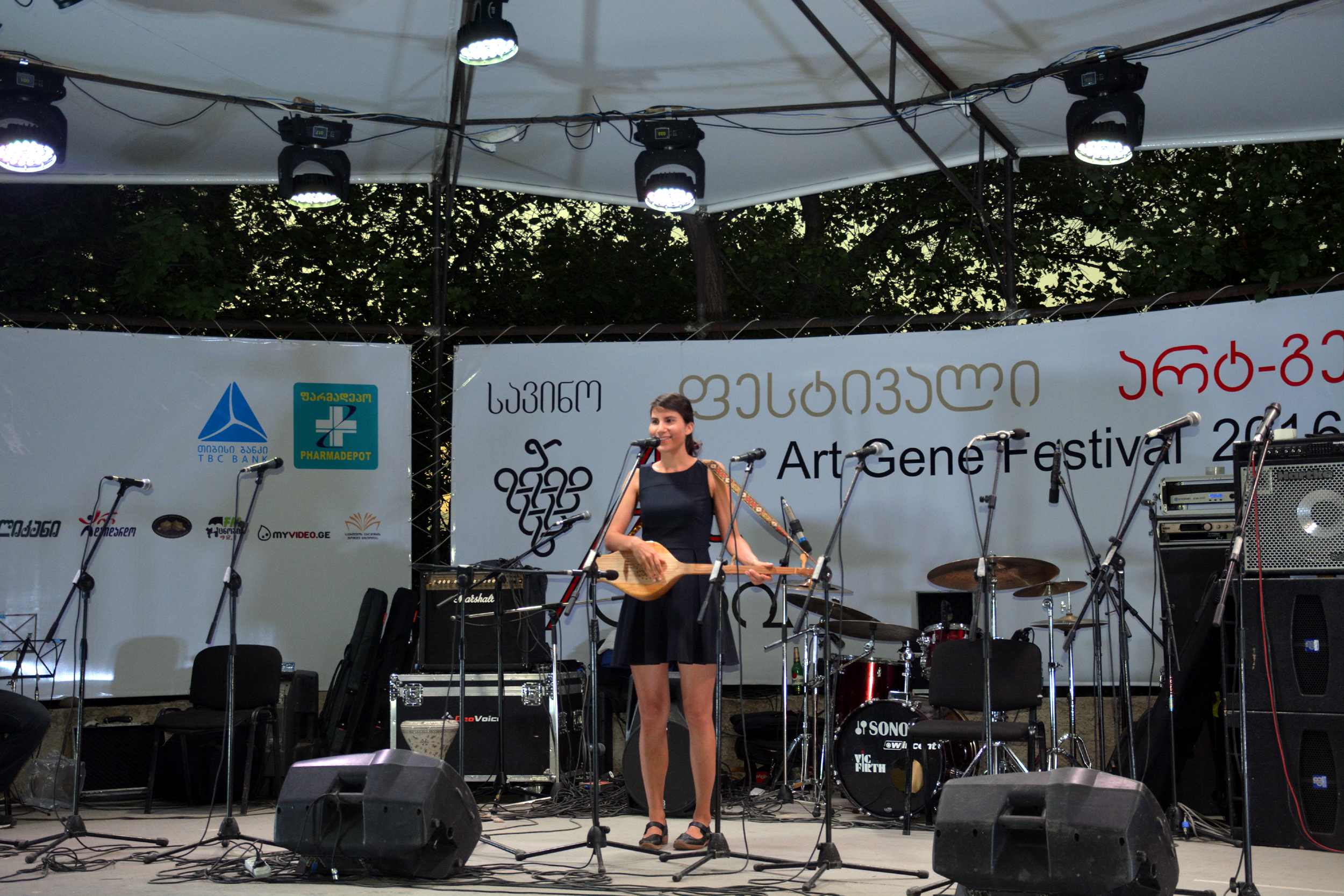Występ na największym festiwalu muzyki folkowej w Gruzji, Art Gene