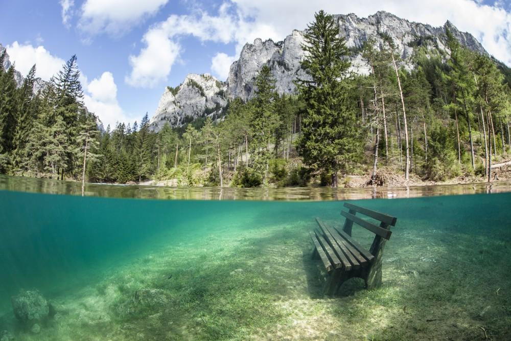 Grüner See (Zielone Jezioro), Tragöß, Styria, Austria