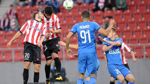 W ten sposób Miroslav Covilo zdobył bramkę w 4. minucie meczu (fot. Rafał Rusek/Pressfocus)