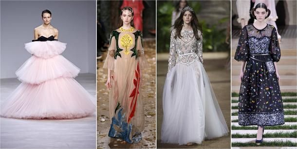 Najpiękniejsze kreacje z pokazów mody haute couture w Paryżu