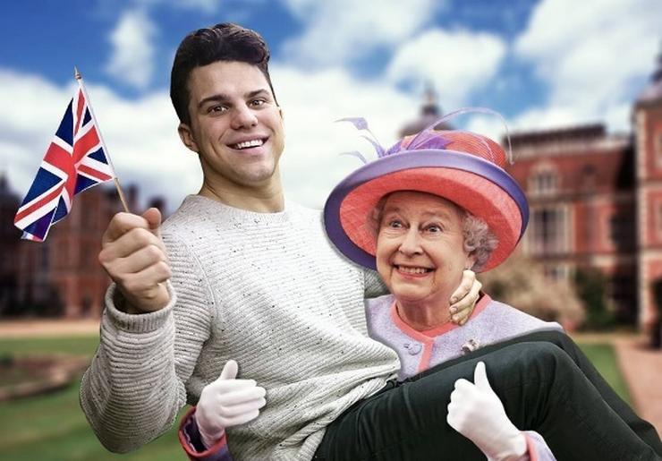 II. Erzsébet királynő karjaiban/ Fotó: Instagram