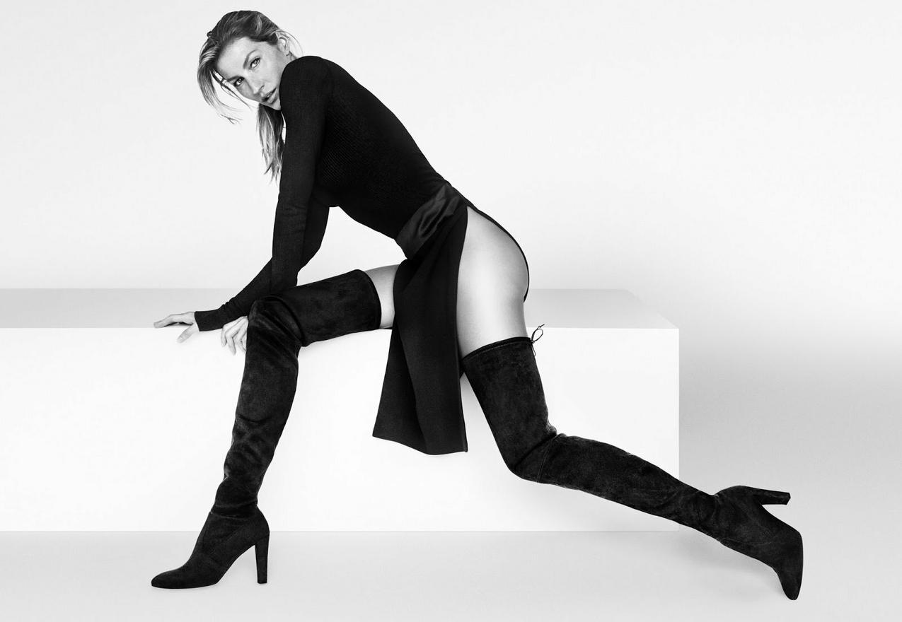 Gisele Bundchen w kampanii butów Stuarta Weitzmana na sezon jesień zima 2015