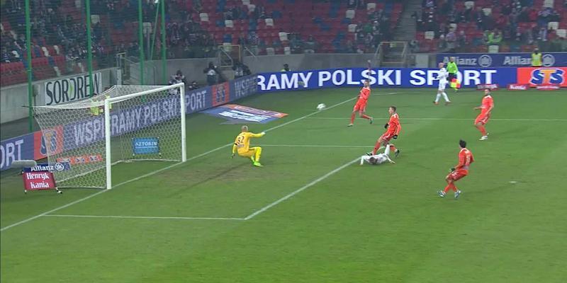 Górnik Z. - Bruk-Bet (2:0): Wolszstyński mógł mieć drugiego gola, ale tym razem Mucha górą