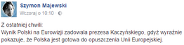 Szymon Majewski na Facebooku