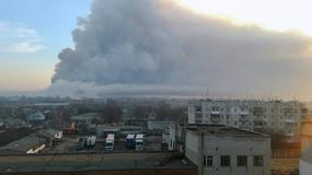 Ukraina: pożar i wybuchy w największym składzie amunicji