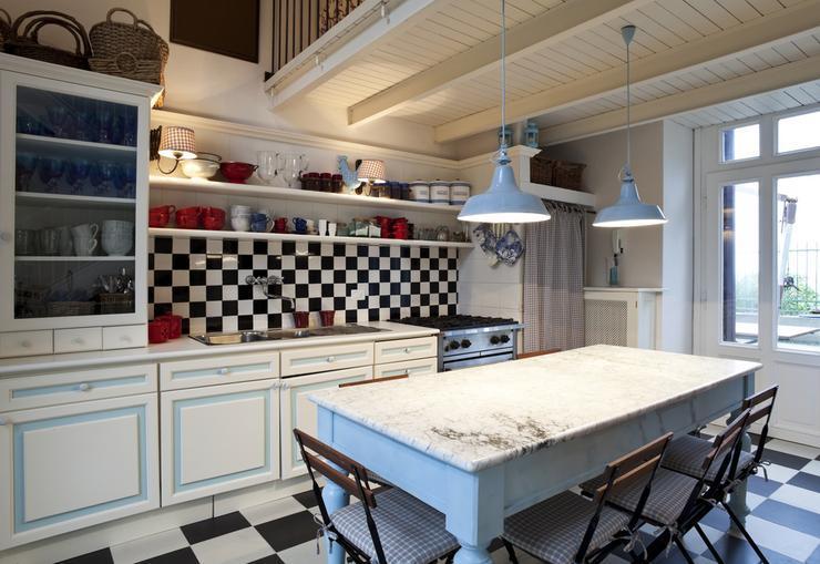 Szachownica w kuchni -> Kuchnia W Stylu Rustykalnym Inspiracje