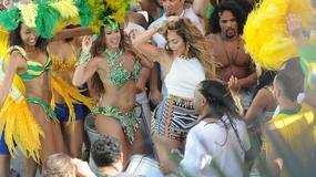 Zjawiskowa Jennifer Lopez na planie teledysku do hymnu mundialu 2014