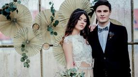 Eukaliptus i papierowe rozety na ślub i wesele