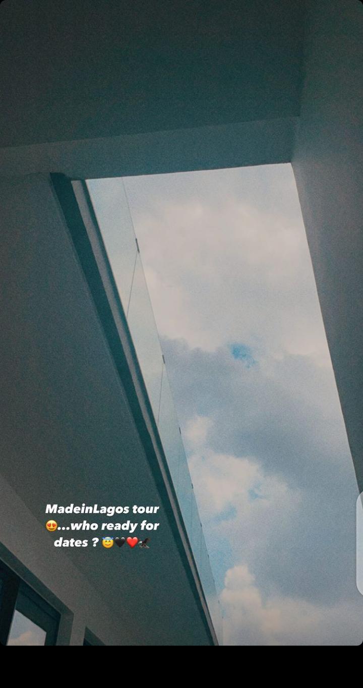 Wizkid teases Made In Lagos tour. (Instagram/Wizkidayo)