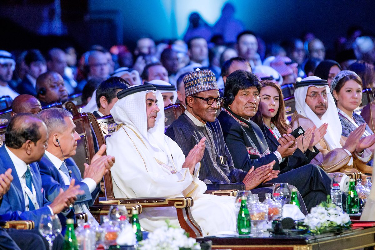President Buhari delivered the Keynote Address at the Annual Investment Meeting AIM2019 in Dubai 1