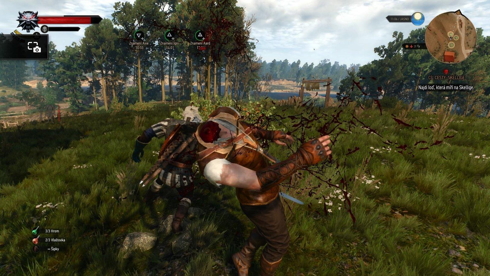 Geralt sa s nepriateľmi nemazná