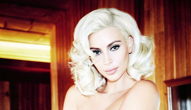 Kim Kardashian jako Marylin Monroe na okładce Vogue Brazil
