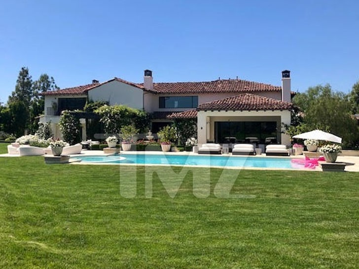 The house is located in the extremely exclusive enclave called The Oaks of Calabasas. [TMZ]