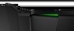 Solidne zawiasy utrzymują ekrany. Da się też zauważyć charakterystyczną dla Razera zieloną poświatę.