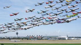 Podniebny tłok. Te zdjęcia pokazują, że ruch lotniczy jest dziś ogromny