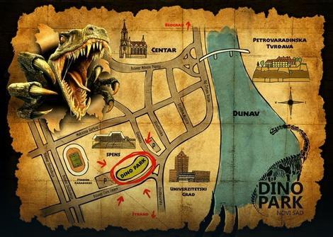Lokacija Dino parka u Novom Sadu