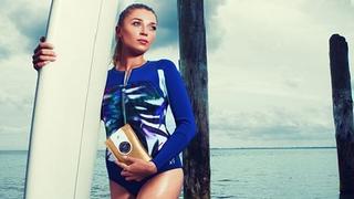 Tak prezentuje się dziewczyna Jarosława Bieniuka w reklamie kosmetyków