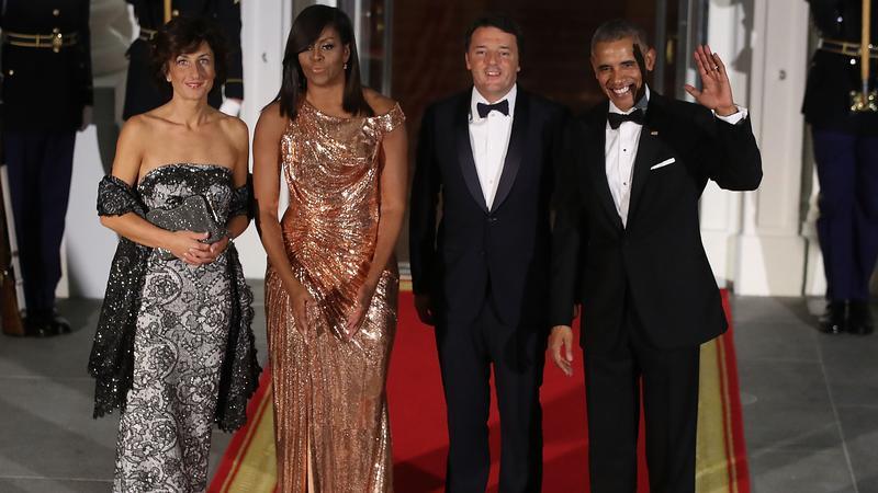 Michelle Obama w kreacji Atelier Versace