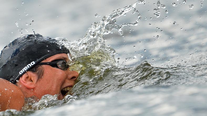 Risztov Éva kőkeményen készül az olimpiára / Fotó: AFP
