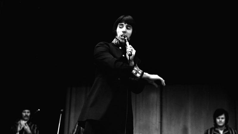 Czesław Niemen z zespołem Akwarele w 1968 roku