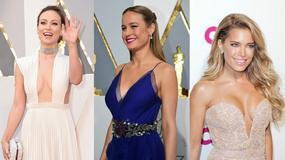 Oscary 2016: seksowne rozcięcia i dekolty