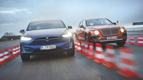Wolty kontra oktany: Tesla Model X i Bentley Bentayga W12