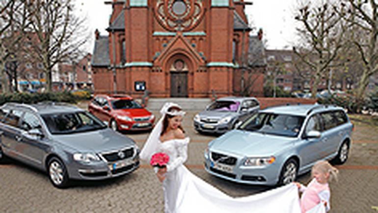Ford Mondeo, Opel Vectra, Volkswagen Passat, Volvo V70 - Czym do ślubu?