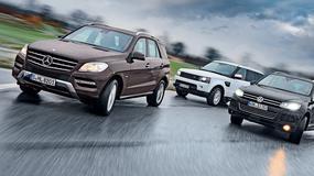 Mercedes ML kontra Range Rover Sport i Volkswagen Touareg: komfortowi podróżnicy