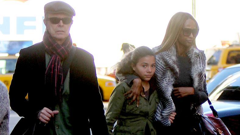 David Bowie és felesége, Iman lányukkal, Alexandriával gyakorta mozdultak ki együtt otthonról /Fotó: Northfoto