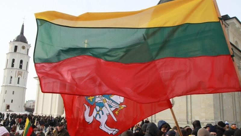 Flaga Litwy, fot.AFP