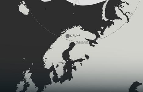 Kiruna se nalazi na samom obodu arktičkog kruga
