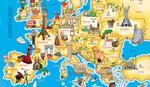 """POKLON UZ """"BLIC""""  U sredu mapa Evrope uz štampano izdanje """"Blica"""""""